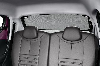 Peugeot 108 - Solgardin til bagrude