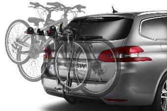 Peugeot 208 - Cykelholder (hang-on, 3 cykler)