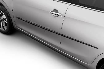 Peugeot 208 - Beskyttelseslister til 5 dørs