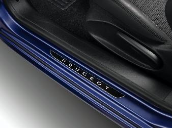 Peugeot 308 (Ny model) -  Dørpanelbeskyttere foran mørkforkromet