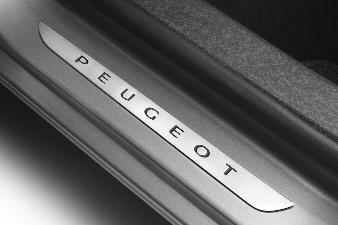 Peugeot 308 (Ny model) -  Dørpanelbeskyttere foran i børstet rus