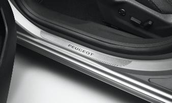 Peugeot 508 -  Dørpanelbeskyttelse i børstet aluminium, for og b