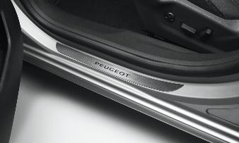 Peugeot 508 -  Dørpanelbeskyttelse i mørk alu-look, for og bag