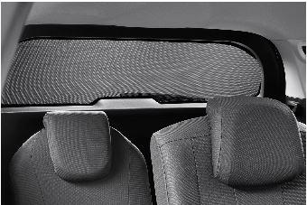 Peugeot 5008 (Ny model) - Solgardin til bagrude