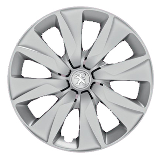 "Original 15"" Peugeot Hjulkapsel Brecola grå"